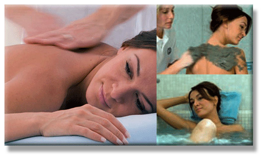 Montage of Spa treatments